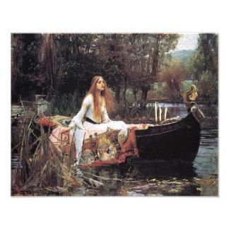"""Waterhouse 1888 de Juan """"la señora del chalote """" Impresión Fotográfica"""