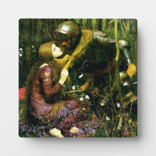 Waterhouse Beautiful Woman Without Mercy Plaque