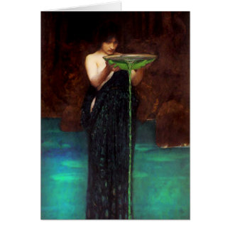 Waterhouse Circe Invidiosa Greeting Card