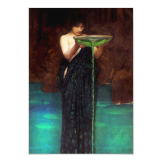 "Waterhouse Circe Invidiosa Invitations 5"" X 7"" Invitation Card"