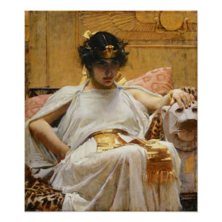 Waterhouse Cleopatra Poster