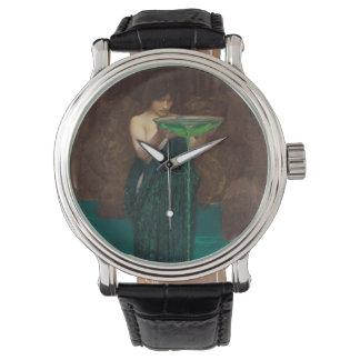 Waterhouse de Circe Invidiosa del arte del Reloj