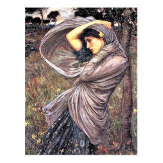 Waterhouse de Juan - Boreas, 1903, ilustraciones Postal