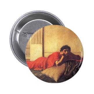 Waterhouse de Juan el remordimiento de Nero Pin Redondo De 2 Pulgadas