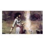 Waterhouse de Juan Guillermo el círculo mágico Plantilla De Tarjeta De Visita