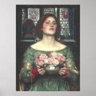 Waterhouse de Juan W - frunce YE Rosebuds (1908) Poster