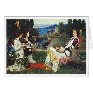 Waterhouse de Juan W - santo Cecilia (1895) Tarjeta Pequeña