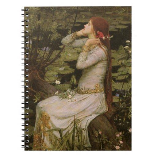 Waterhouse de Ofelia (por la charca) JW, arte del  Cuadernos