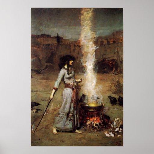 Waterhouse el poster mágico del círculo