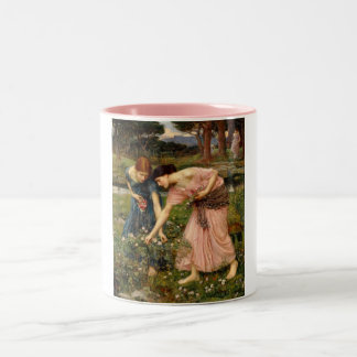 Waterhouse-gather_ye_rosebuds-1909. Two-Tone Coffee Mug