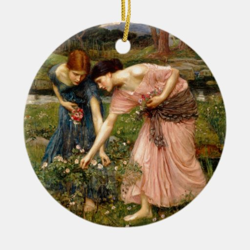 Waterhouse-gather_ye_rosebuds-1909. Christmas Ornaments