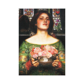 Waterhouse Gather Ye Rosebuds Canvas Poster