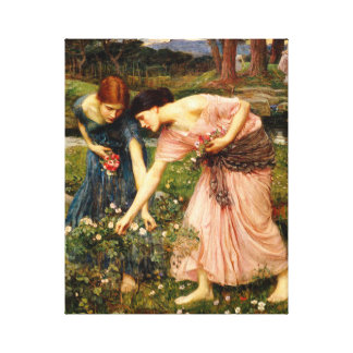 Waterhouse Gather Ye Rosebuds Canvas Print