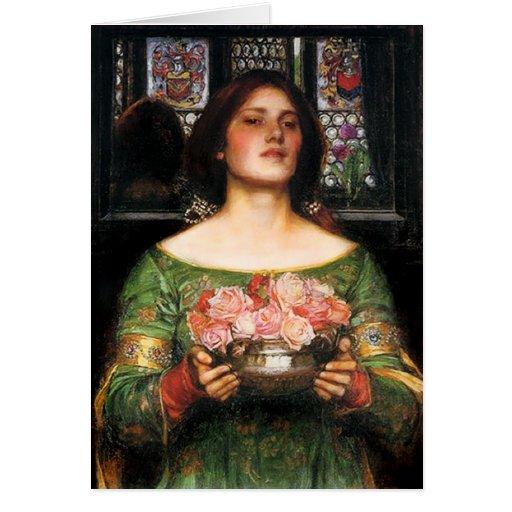 Waterhouse Gather Ye Rosebuds greeting card