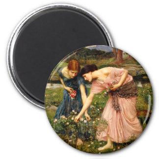 Waterhouse Gather Ye Rosebuds Magnet