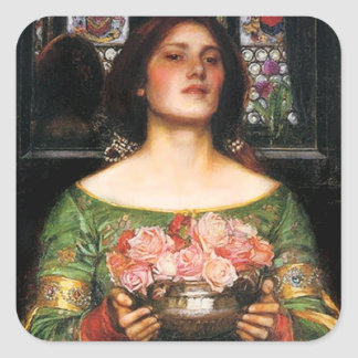 Waterhouse Gather Ye Rosebuds Stickers