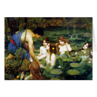 Waterhouse Hylas and the Nymphs Greeting Card