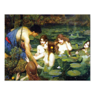"""Waterhouse Hylas and the Nymphs Invitations 4.25"""" X 5.5"""" Invitation Card"""