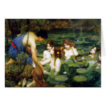 Waterhouse Hylas and the Nymphs Note Card