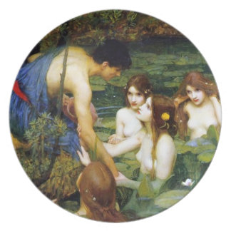 Waterhouse Hylas and the Nymphs Plate