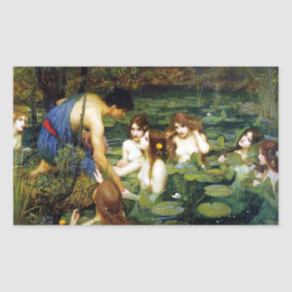 Waterhouse Hylas and the Nymphs Stickers