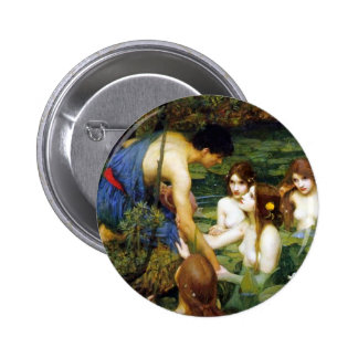 Waterhouse Hylas y el botón de las ninfas Pin Redondo De 2 Pulgadas