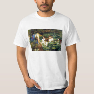 Waterhouse Hylas y la camiseta de las ninfas Polera