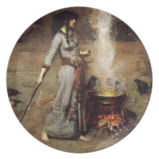 Waterhouse la placa mágica del círculo plato para fiesta