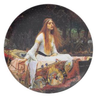 Waterhouse la señora de la placa de Shalott Plato De Comida