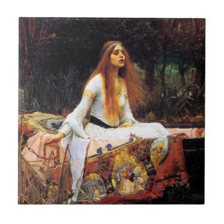 Waterhouse la señora de la teja de Shalott