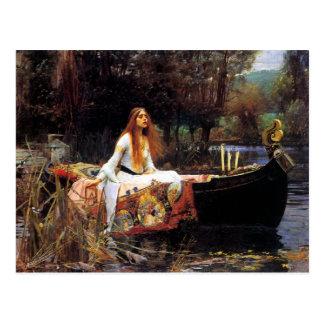 Waterhouse la señora de Shalott Postal