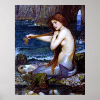 Waterhouse: La sirena Póster