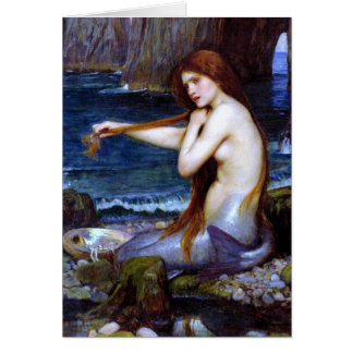 Waterhouse: La sirena Tarjeta De Felicitación