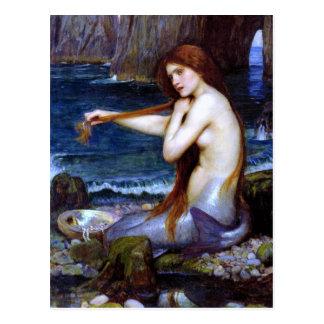 Waterhouse: La sirena Tarjetas Postales