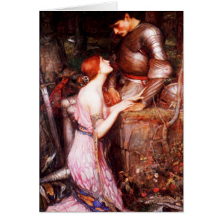 Waterhouse Lamia and the Soldier Note Card