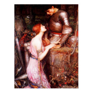Waterhouse Lamia and the Soldier Postcard