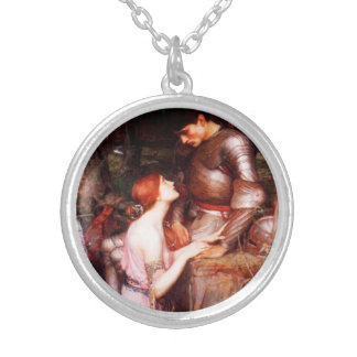 Waterhouse Lamia and the Soldier Silver Plated Necklace