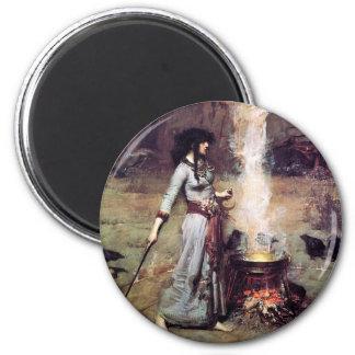 Waterhouse mágico 1886 del círculo iman de nevera