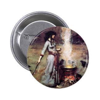 Waterhouse mágico 1886 del círculo pin redondo 5 cm
