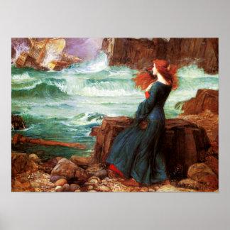 Waterhouse Miranda el poster de la tempestad