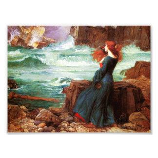 Waterhouse Miranda la impresión de la tempestad Cojinete