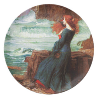 Waterhouse Miranda The Tempest Plate