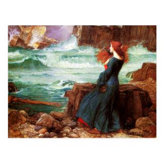 Waterhouse Miranda The Tempest Postcard