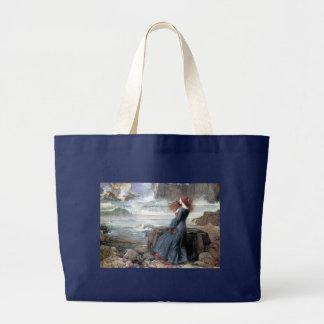 Waterhouse miranda the tempest woman ship wreck canvas bag