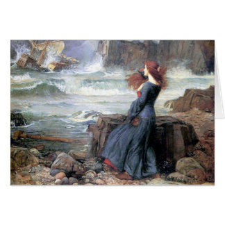 Waterhouse miranda the tempest woman ship wreck card