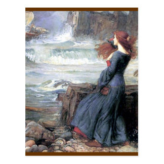 Waterhouse miranda the tempest woman ship wreck postcard