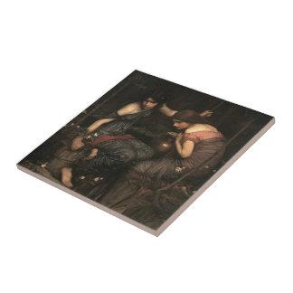 Waterhouse-Ninfas de Juan que encuentran la cabeza Azulejos