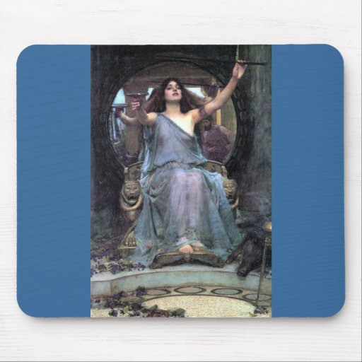 Waterhouse Offering Cup Ulysses woman Mouse Pad