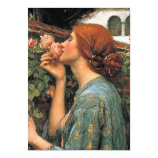 Waterhouse: Olor de rosas Invitación 12,7 X 17,8 Cm
