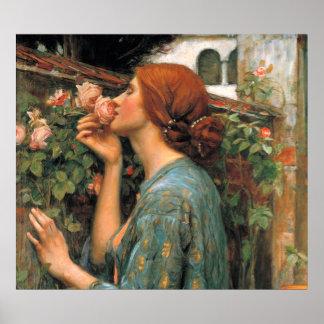 Waterhouse Olor de rosas Impresiones
